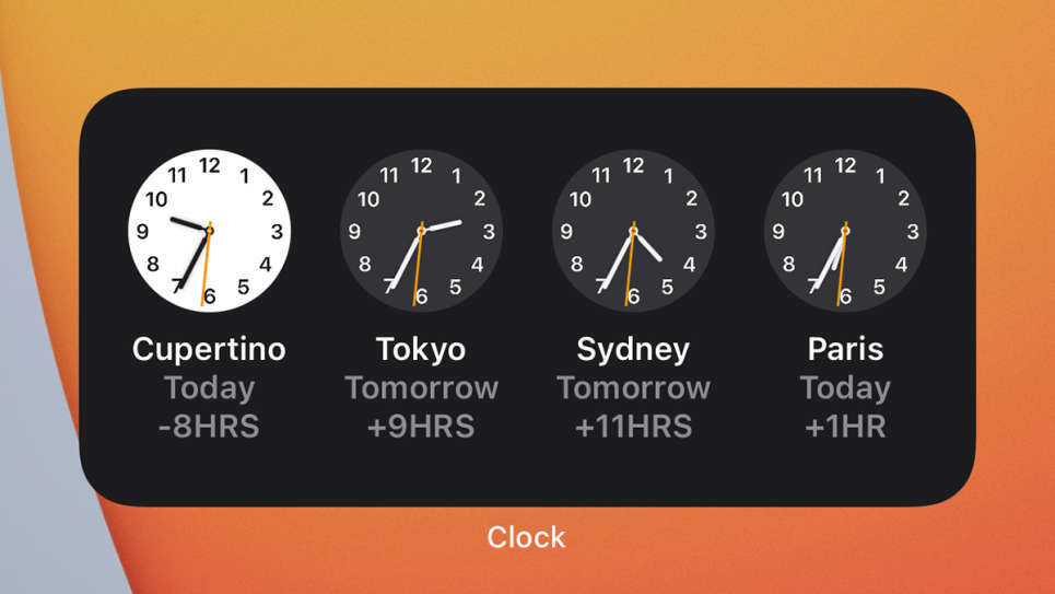 iPhone HomeScreen Widgets